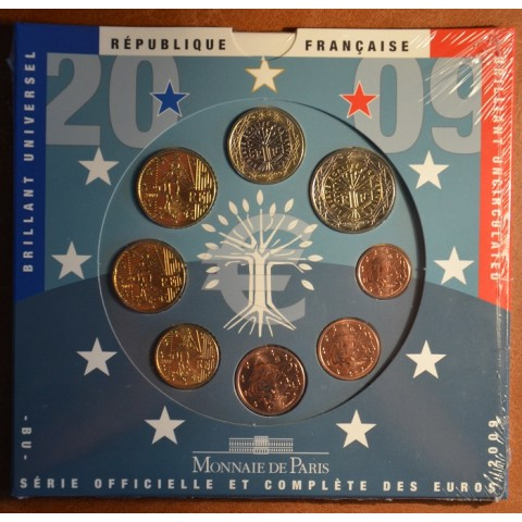 Official set of 8 French coins 2009  (BU)