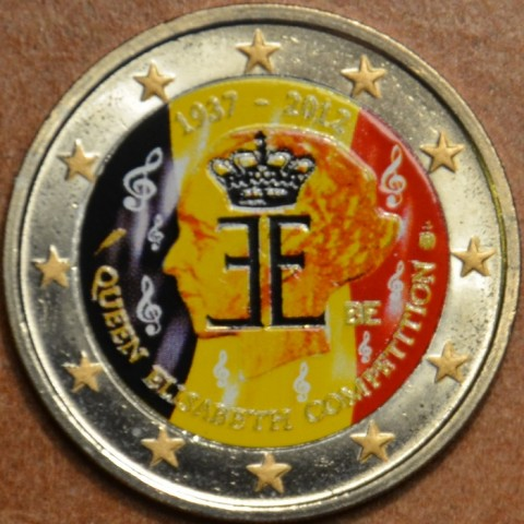 2 Euro Belgium 2012 - The 75th anniversary of the Queen Elisabeth Competition II. (UNC colored)