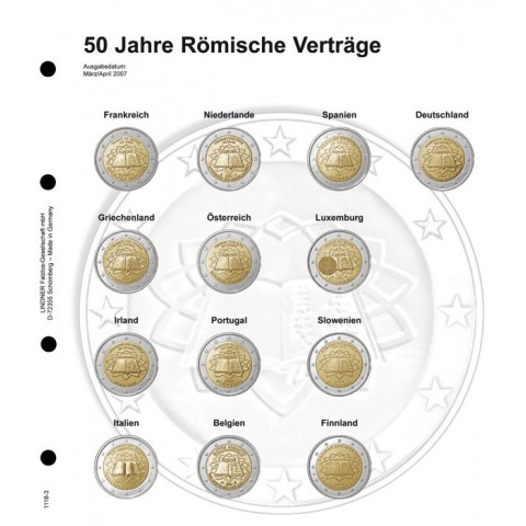 Lindner page for common 2 Euro coins page 3 - Treaty of Rome