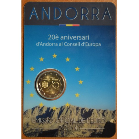 2 Euro Andorra 2014 - Admission to Council of Europe (BU card)