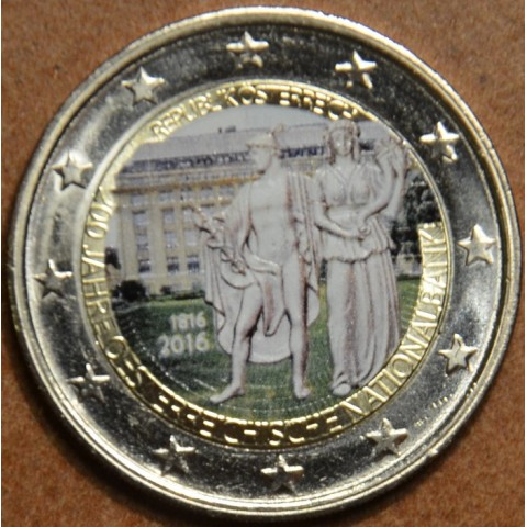 2 Euro Austria 2016 - 200 years of Austrian National Bank III. (colored UNC)