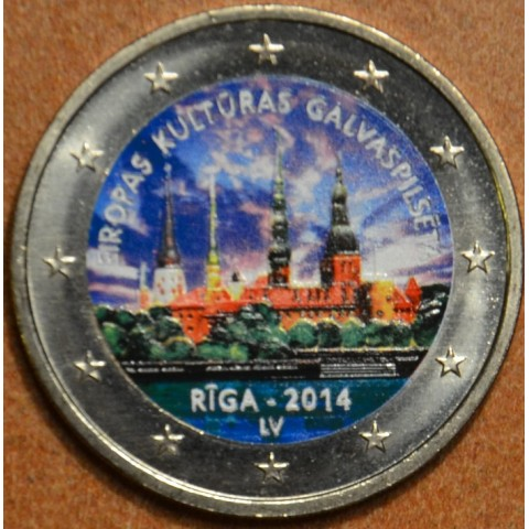 2 Euro Latvia 2014 - Riga European Capital of Culture II. (colored UNC)