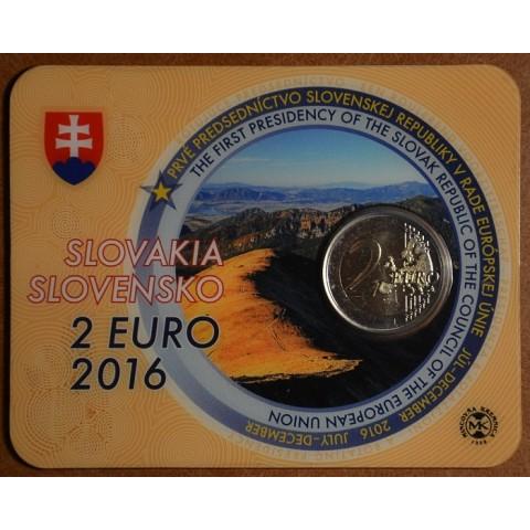 2 Euro Slovakia 2016 - EU presidency  (BU card)