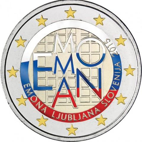 2 Euro Slovenia 2015 - 2000 years of Emona III.  (colored UNC)