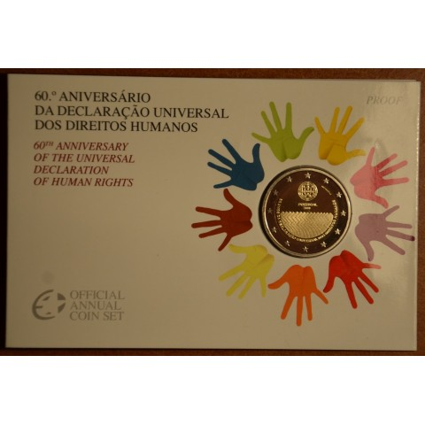 2 Euro Portugal 2008 - 60th anniversary of the Universal Declaration of Human Rights (Proof)