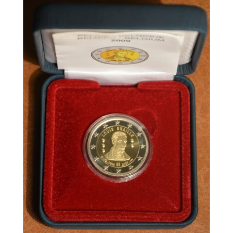 2 Euro Belgium 2009 - 200th Anniversary of birth of Louis Braille (Proof)