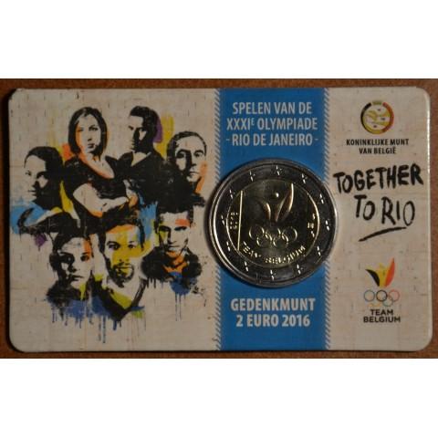 2 Euro Belgium 2016 - Olympic team of Belgium (BU card)