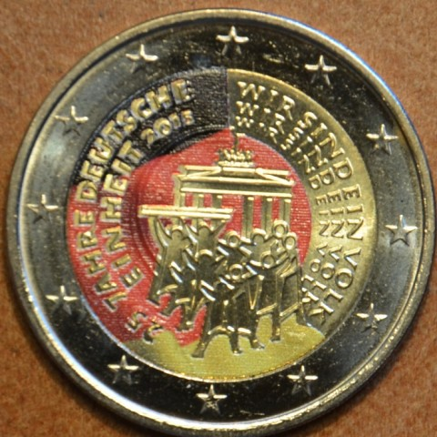 2 Euro Germany 2015 - 25 years of reunification of Germany III. (colored UNC)