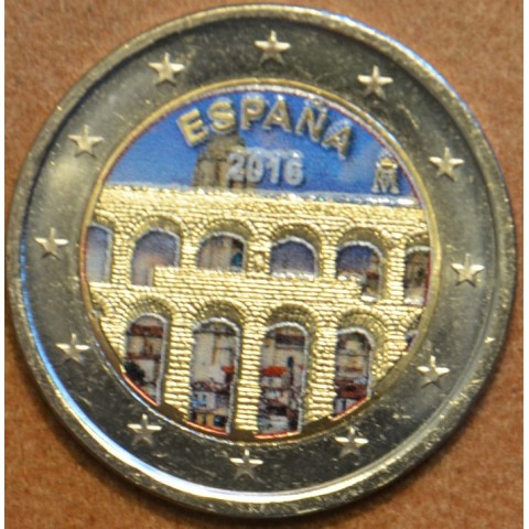 2 Euro Spain 2016 - Aqueduct of Segovia (colored UNC)