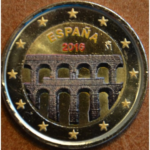 2 Euro Spain 2016 - Aqueduct of Segovia II. (colored UNC)