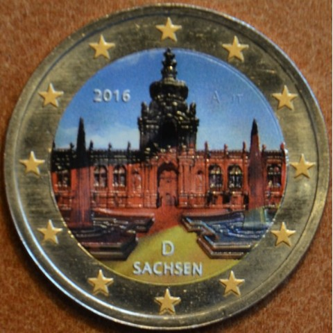 2 Euro Germany 2016 - Saxony: Dresden (colored UNC)
