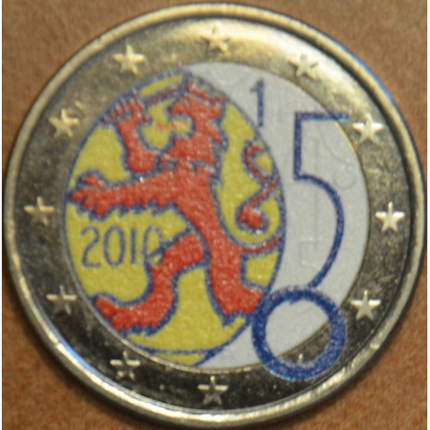 2 Euro Finland 2010 - 150th anniversary of Finnish currency II. (colored UNC)