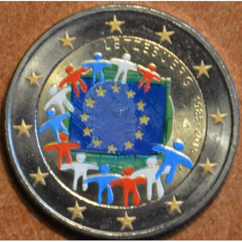 2 Euro Luxembourg 2015 - 30 years of European flag (colored UNC)