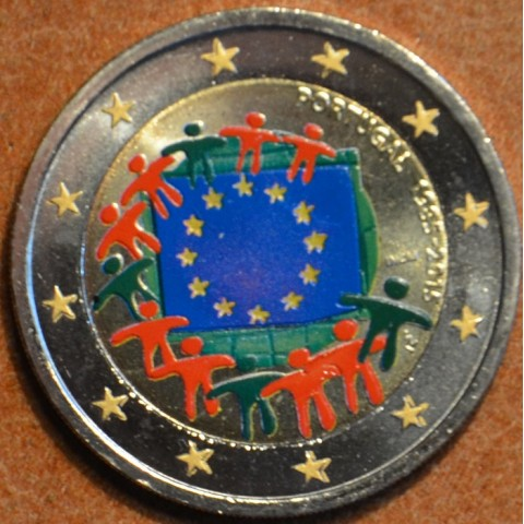 2 Euro Portugal 2015 - 30 years of European flag (colored UNC)