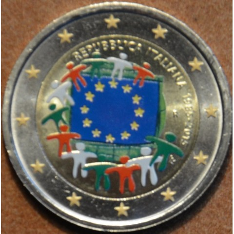 2 Euro Italy 2015 - 30 years of European flag (colored UNC)