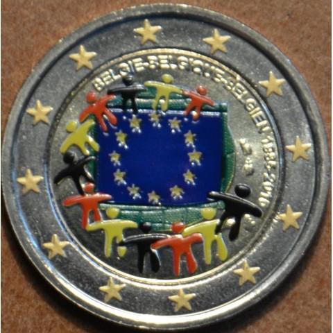 2 Euro Belgium 2015 - 30 years of European flag (colored UNC)
