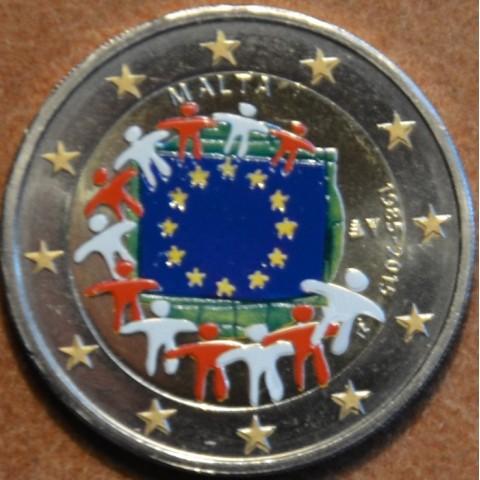 2 Euro Malta 2015 - 30 years of European flag (colored UNC)