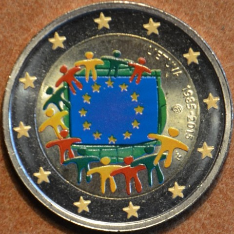 2 Euro Lithuania 2015 - 30 years of European flag (colored UNC)