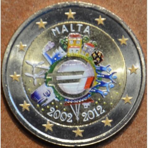 2 Euro Malta 2012 - Ten years of Euro  (colored UNC)