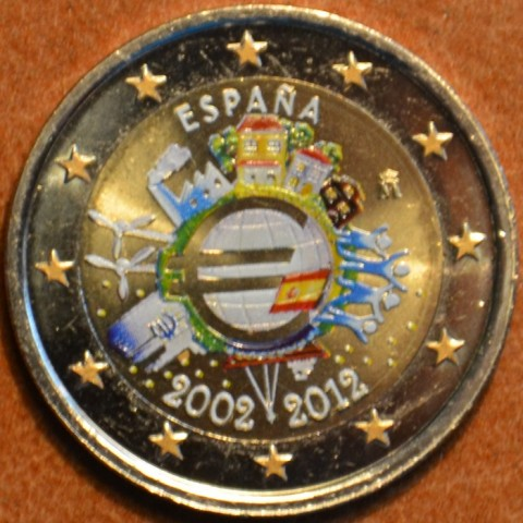 2 Euro Spain 2012 - Ten years of Euro  (colored UNC)