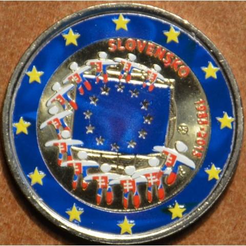 2 Euro Slovakia 2015 - 30 years of European flag IV. (colored UNC)