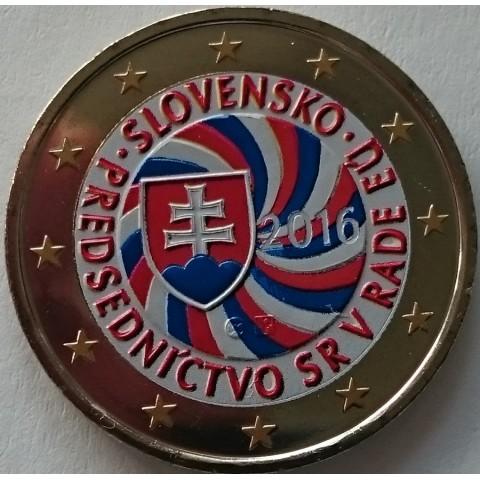 2 Euro Slovakia 2016 - EU presidency IV. (colored UNC)