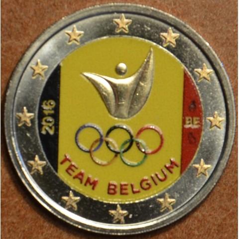 2 Euro Belgium 2016 - Olympic team of Belgium (colored UNC)