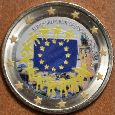 "2 Euro Germany ""J"" 2015 - 30 years of European flag III. (colored UNC)"
