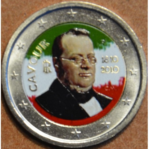 2 Euro Italy 2010 - 200th anniversary of birth of Camillo Benso II. (colored UNC)