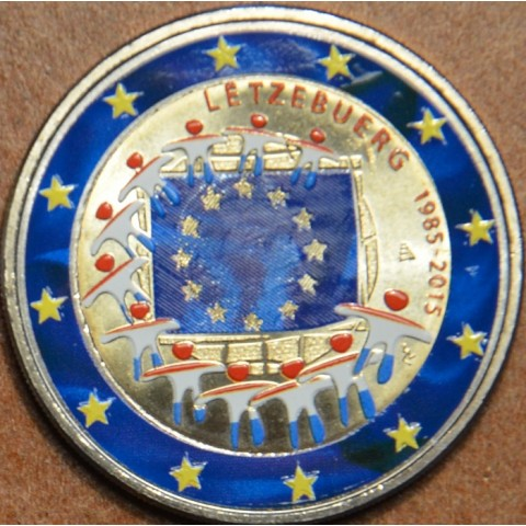 2 Euro Luxembourg 2015 - 30 years of European flag II. (colored UNC)
