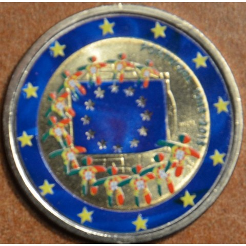 2 Euro Portugal 2015 - 30 years of European flag II.  (colored UNC)