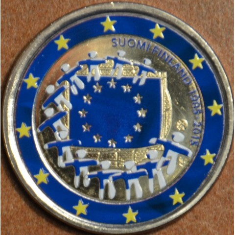 2 Euro Finland 2015 - 30 years of European flag II. (colored UNC)