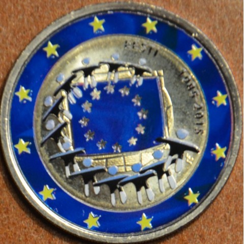 2 Euro Estonia 2015 - 30 years of European flag II. (colored UNC)