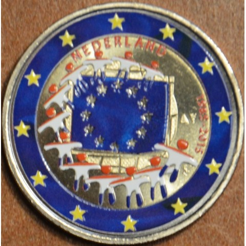 2 Euro Netherlands 2015 - 30 years of European flag II. (colored UNC)