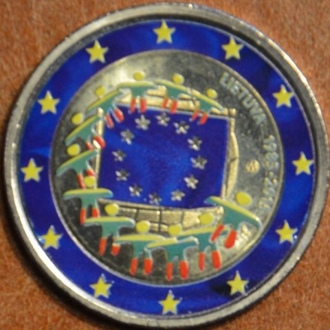 2 Euro Lithuania 2015 - 30 years of European flag II. (colored UNC)