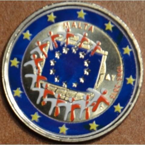 2 Euro Malta 2015 - 30 years of European flag II. (colored UNC)