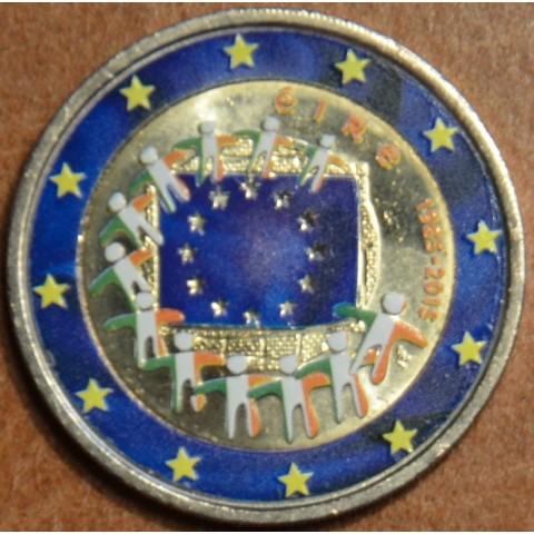 2 Euro Ireland 2015 - 30 years of European flag II. (colored UNC)
