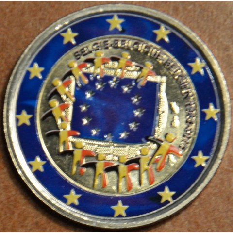 2 Euro Belgium 2015 - 30 years of European flag II. (colored UNC)