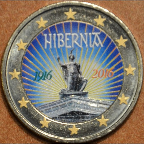 2 Euro Ireland 2016 - 100 years of Easter Rising IV.  (colored UNC)