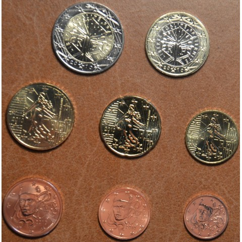 Set of 8 eurocoins France 2009 (UNC)