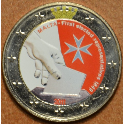 2 Euro Malta 2011 - Constitutional history – first election of representatives in 1849 II. (colored UNC)