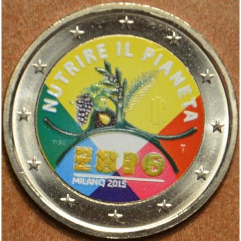 2 Euro Italy 2015 - EXPO Milano 2015 III.  (colored UNC)