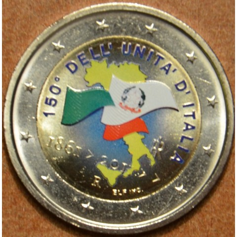 2 Euro Italy 2011 - 150th anniversary of unification of Italy III.  (colored UNC)