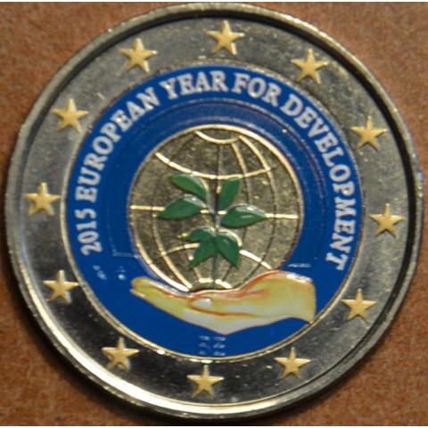 2 Euro Belgium 2015 - European Year for Development III. (colored UNC)