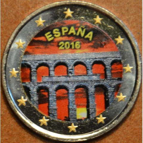 2 Euro Spain 2016 - Aqueduct of Segovia III. (colored UNC)