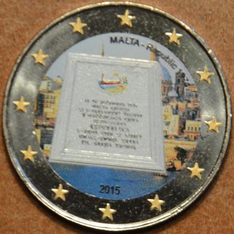 2 Euro Malta 2015 - Republic 1974 III. (colored UNC)