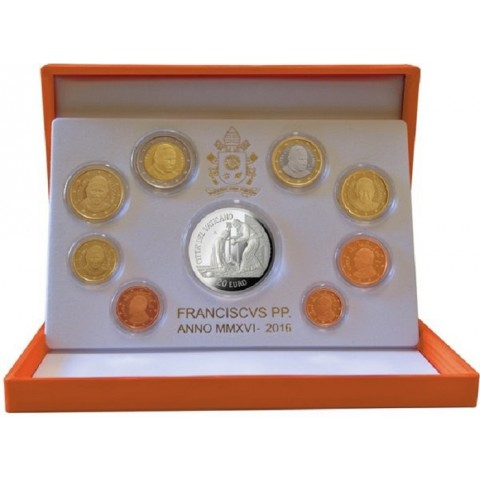 Official 9 coins set of Vatican 2016 (Proof)