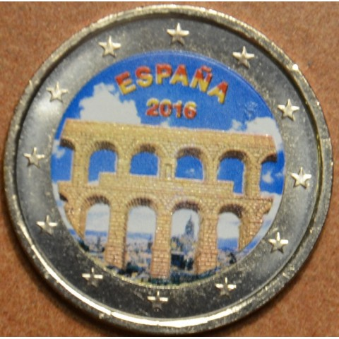 2 Euro Spain 2016 - Aqueduct of Segovia IV. (colored UNC)