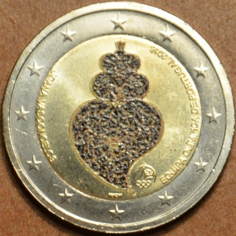 2 Euro Portugal 2016 - Olympic team of Portugal (colored UNC)