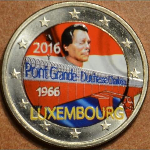 2 Euro Luxembourg 2016 - 50 Years of Grand Duchess Charlotte Bridge II. (colored UNC)